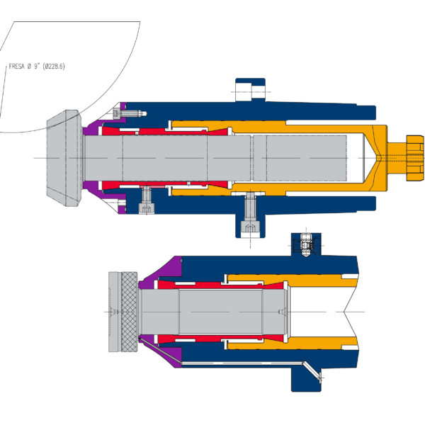 Bevel pinion cutting scheme