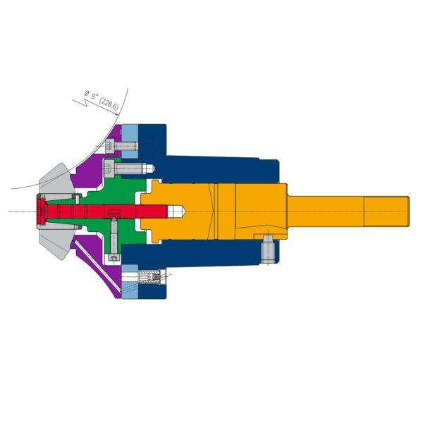 Schema tagliatura satellite conico